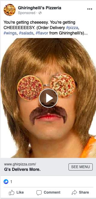 Ghiringhellis : Pizza Social Media Advertising